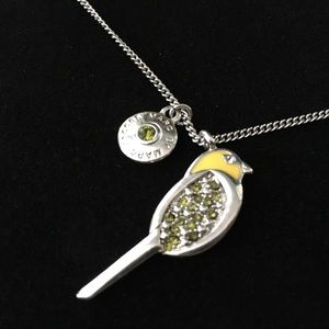 Marc by Marc Jacobs bird necklace enamel citrine